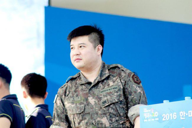 Shindong in uniform
