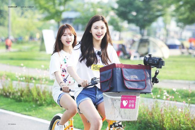 Dodaeng on a bike!
