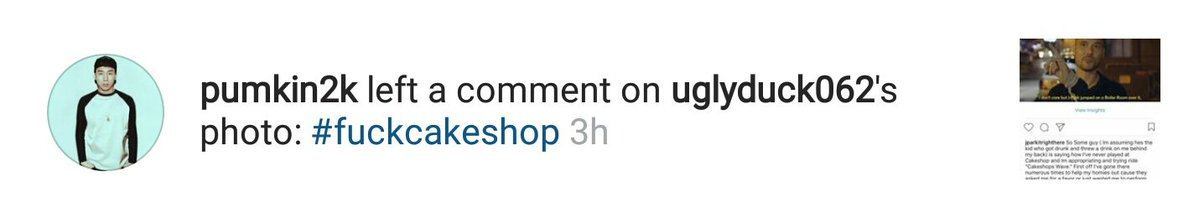 DJ Pumpkin contributes to the hashtag #fuckcakeshop