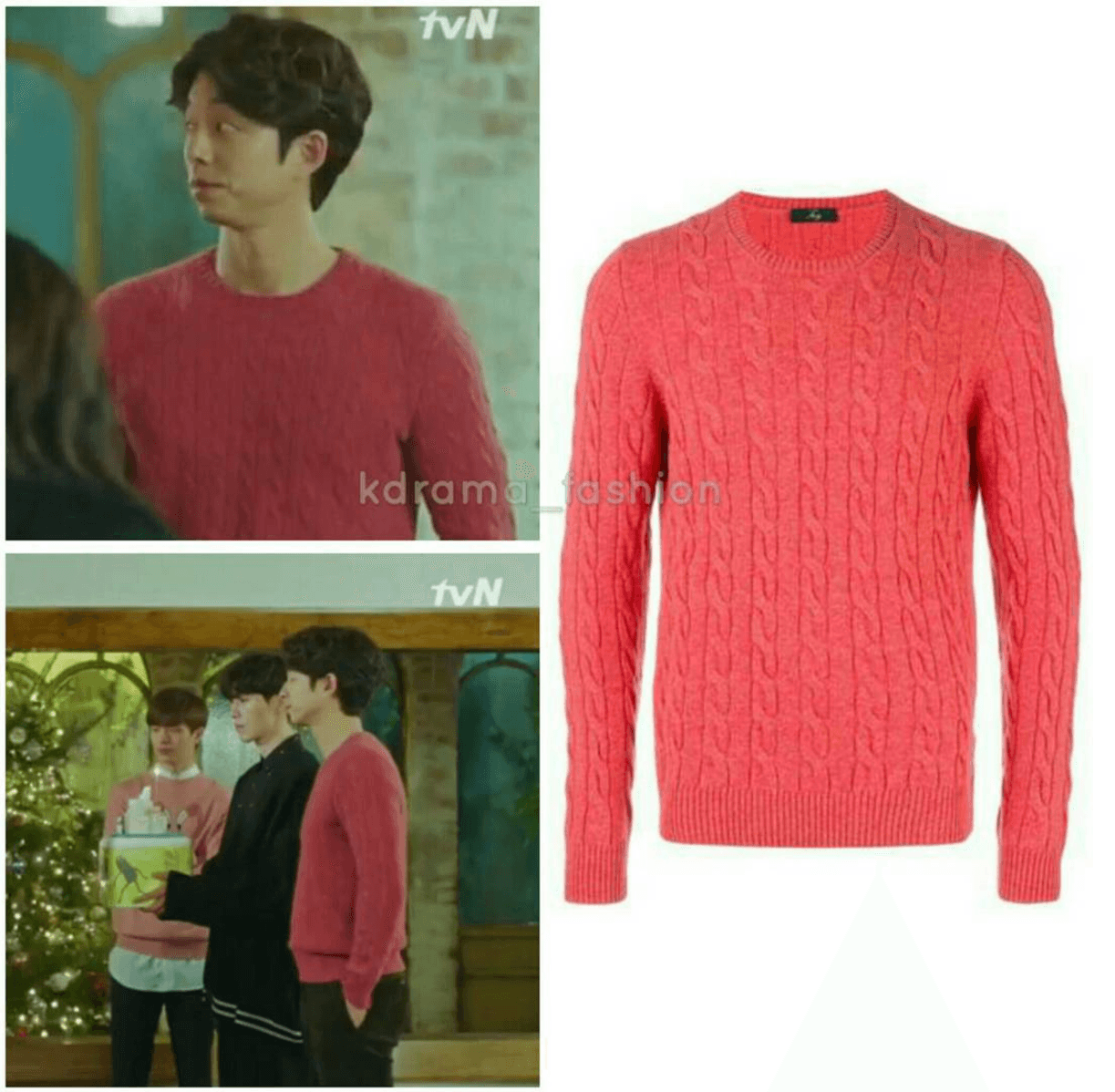 fay-cable-knit-jumper-pink
