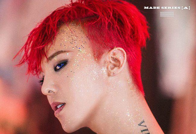 Gdragon glitter makeup