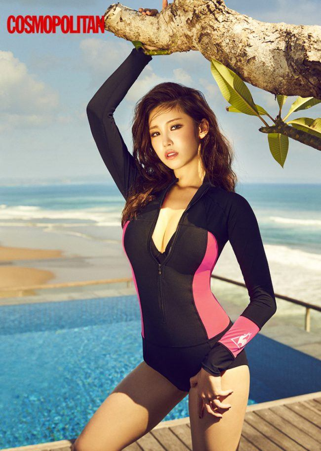 hyosung modeling in swim wear