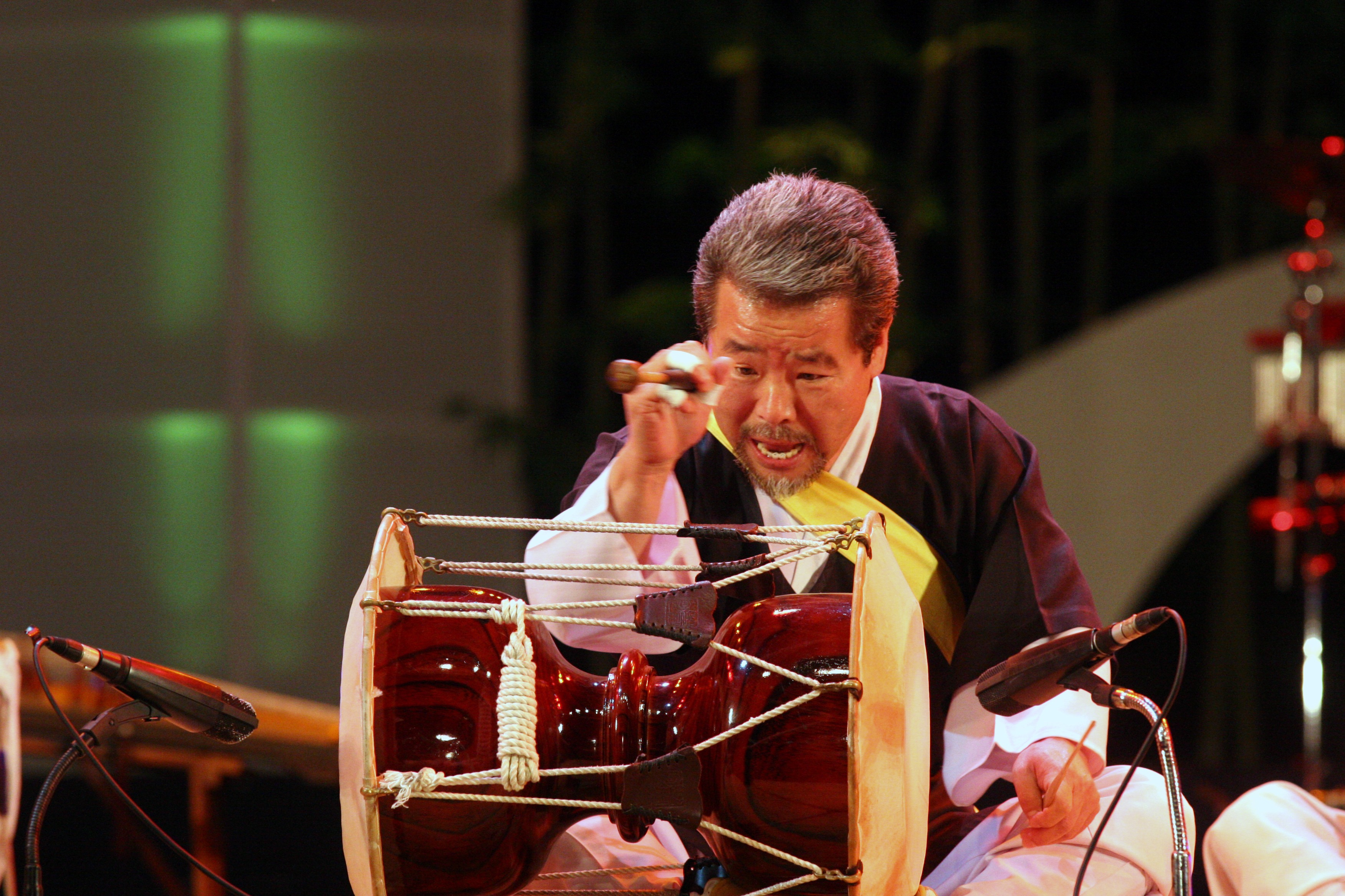 Kim Duk Soo playing drums