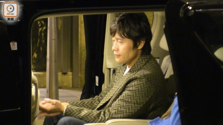 Lee Byung Hun in the car.