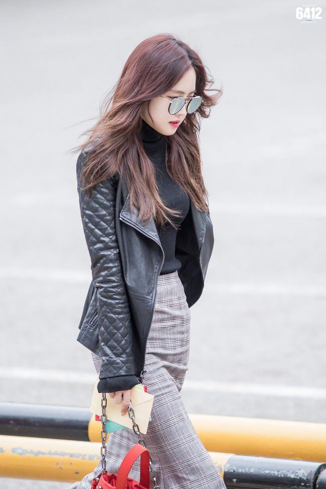 Looking flawless in Leather and Shades.
