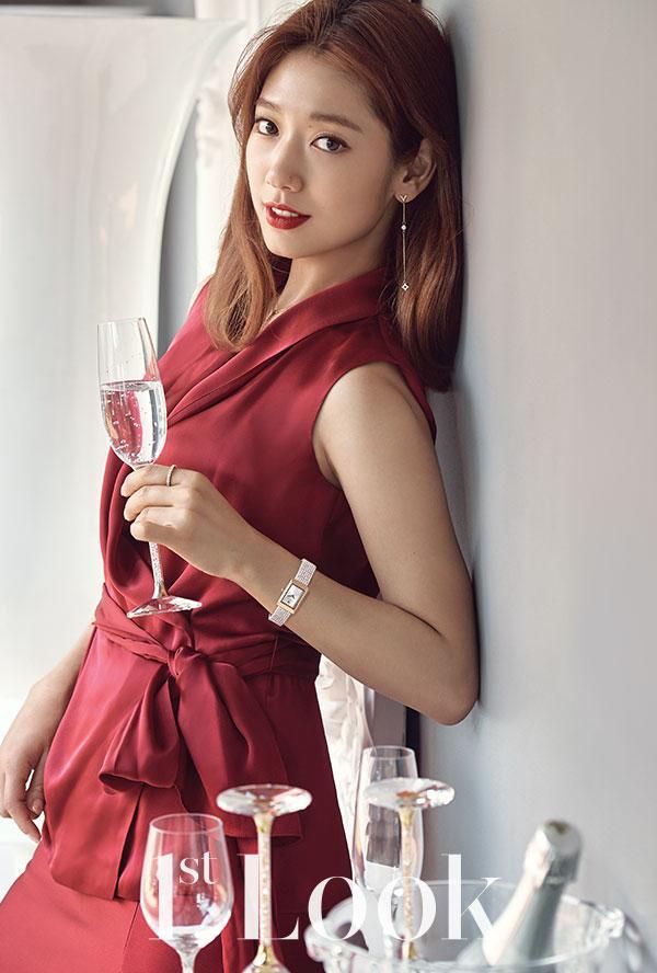 Park Shin Hye in Carolina Herrera