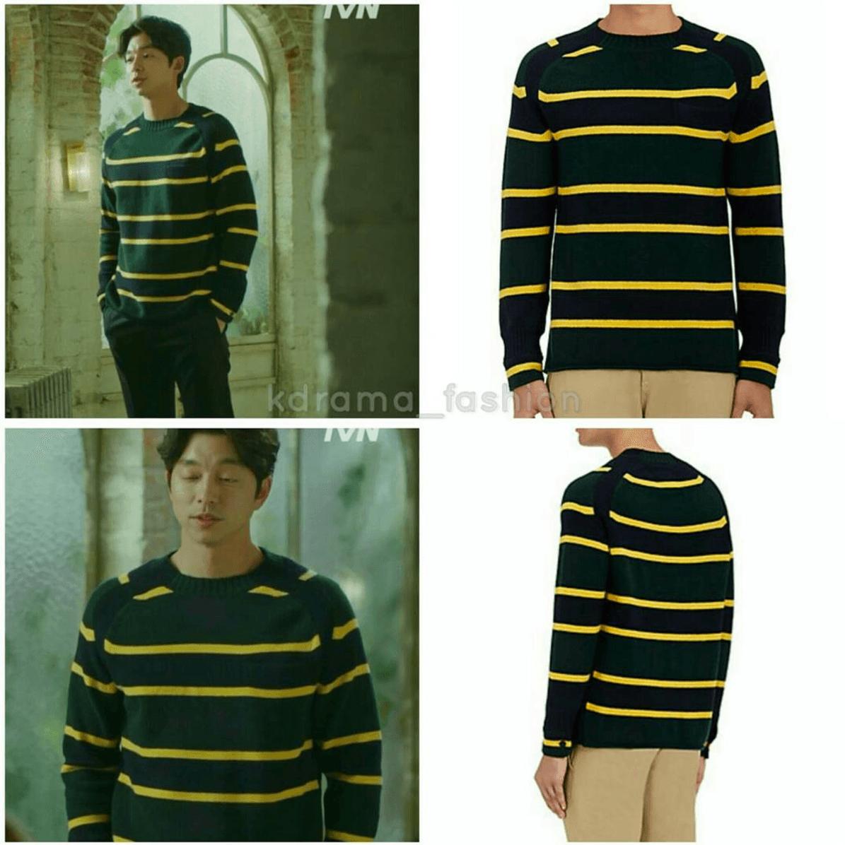 sacai-striped-wool-sweater-green