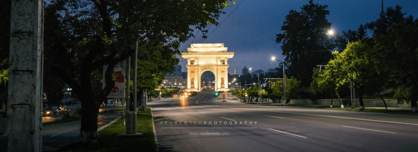 NIGHT VIEW OF ARCH OF TRIUMPH