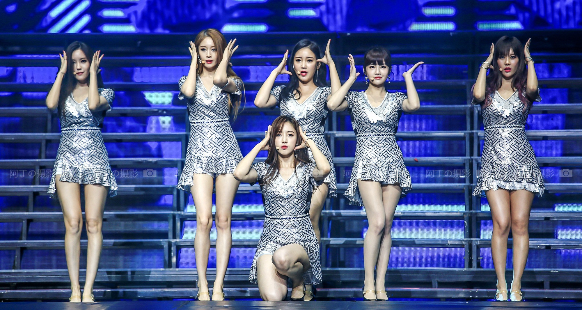 T-ara performing during their concert