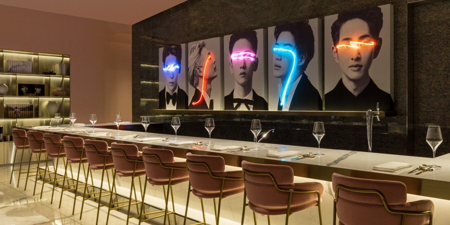 Wouldn't you like to drink wine while looking at artistic portraits of SHINee?
