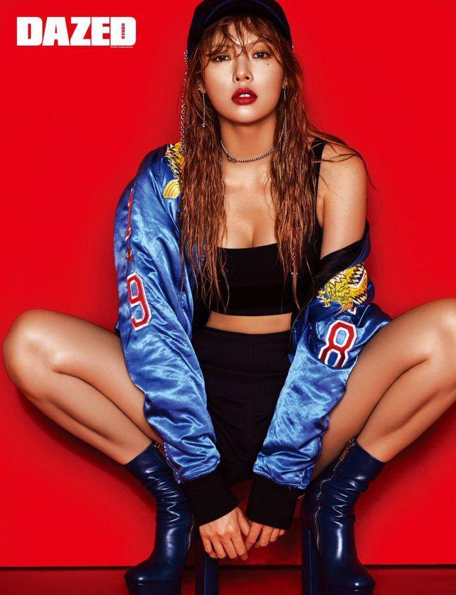 HyunA poses for Dazed Magazine