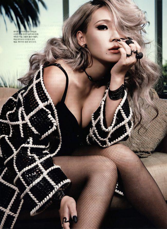 CL позирует для журнала.