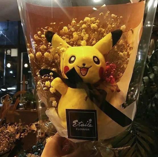 flowers-pikachu