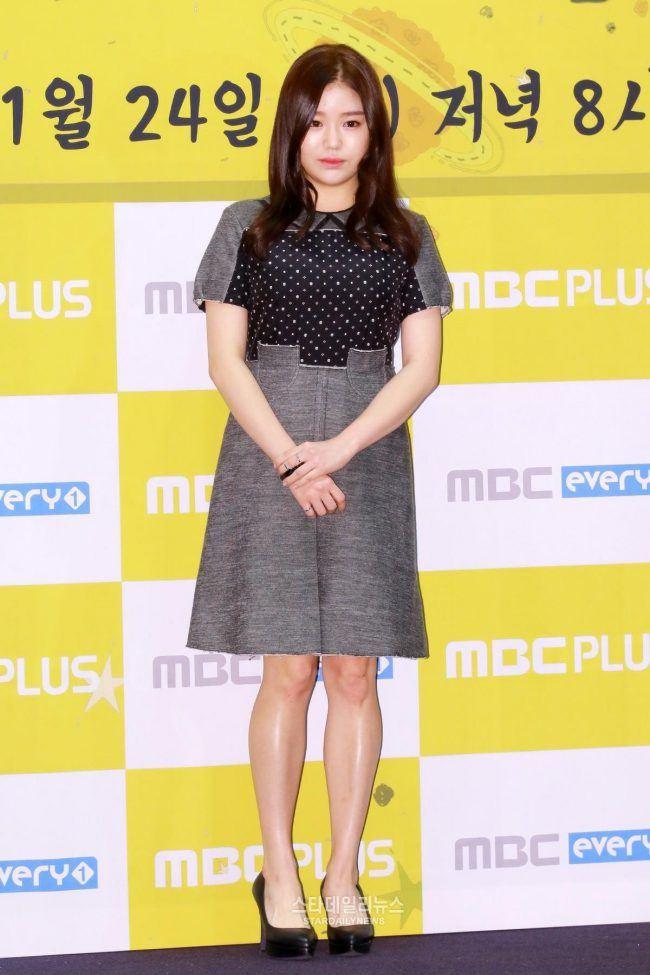 Чо Юнг Хе, прежде чем она набрала вес для роли.