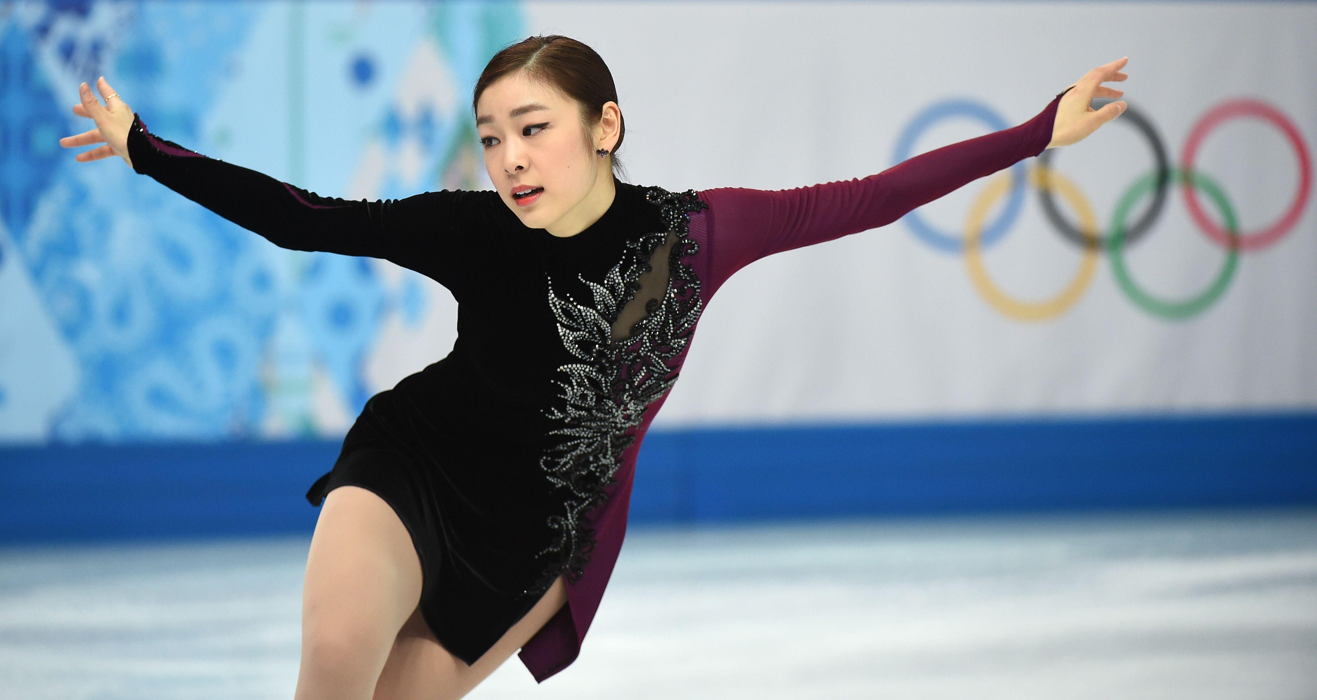 Kim Yuna during the figure finals (2014 Sochi)