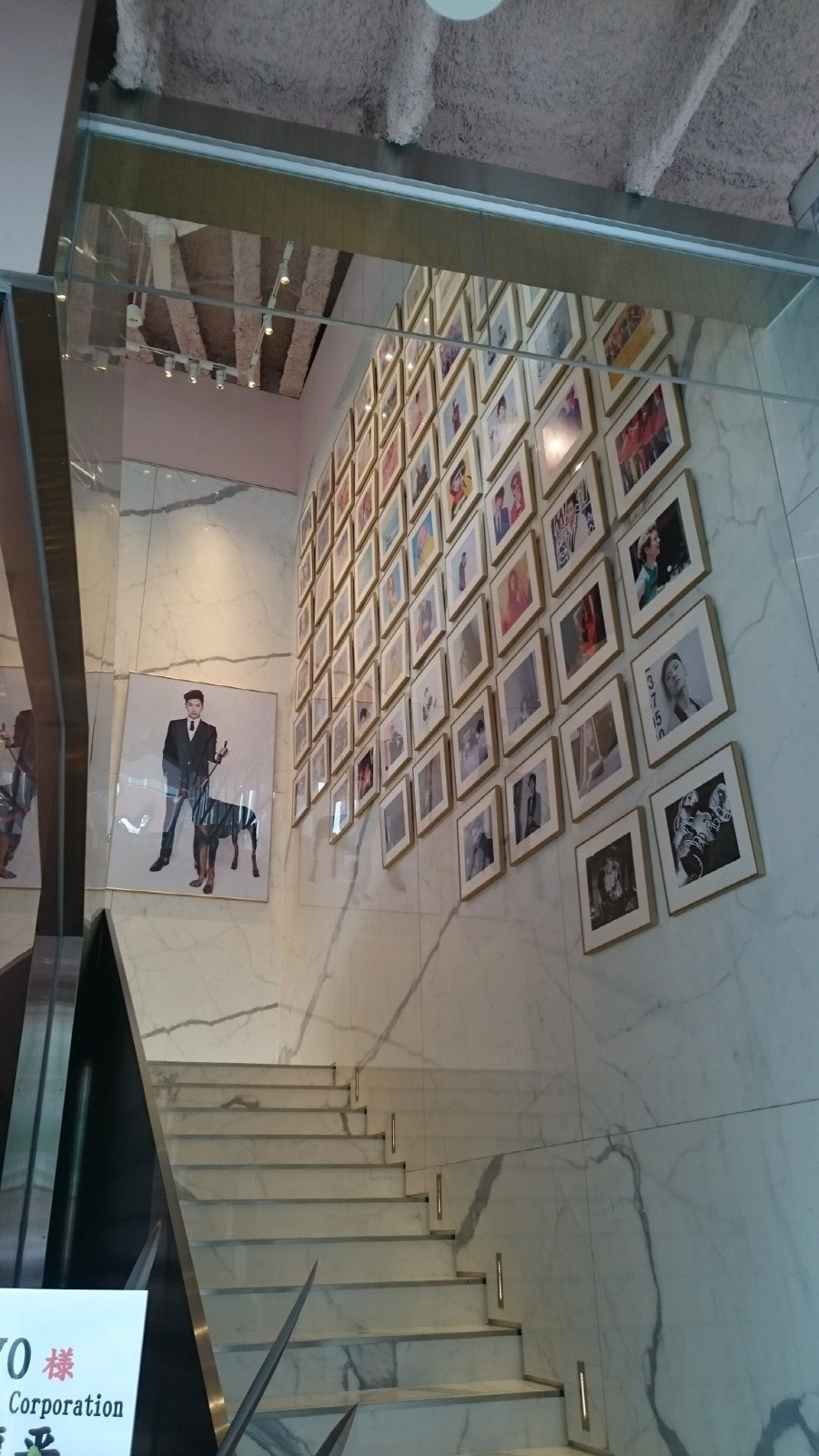 The restaurant also doubles as a museum for posters of SM artists.