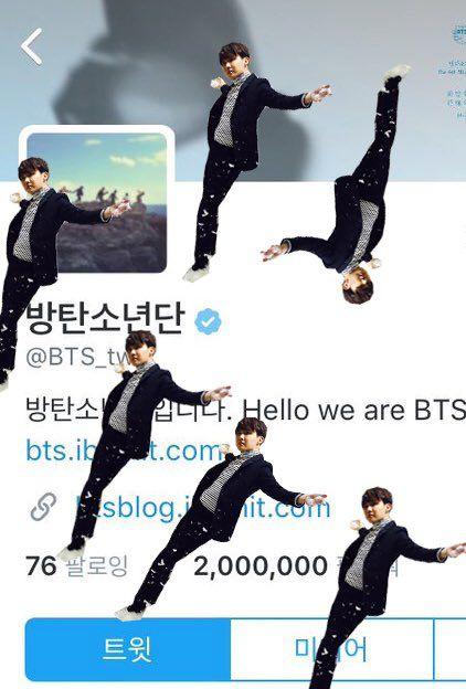 Hoseok Twitter edit at 2 mil