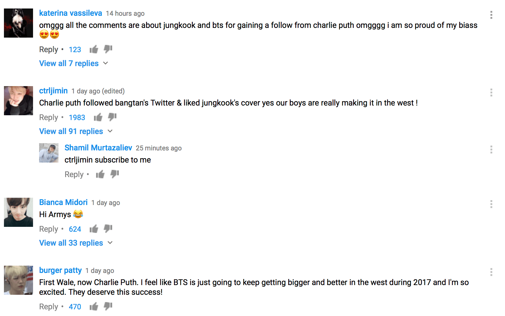 Fans are leaving hundreds of comments on the official YouTube video in support of Jungkook