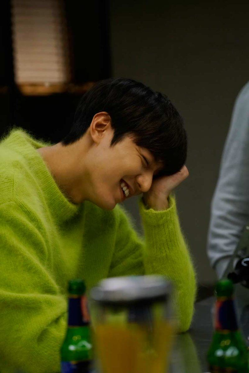 This lime green sweater reminds us of that pink piece in Goblin.