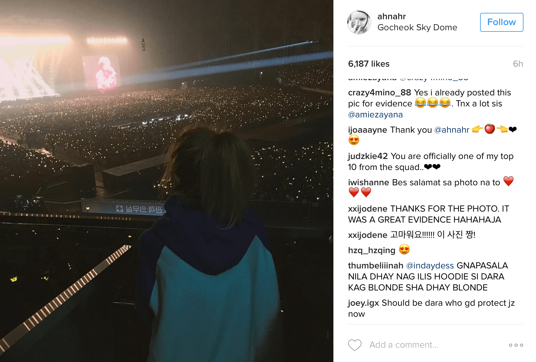 Sandara Park was at BIGBANG's concert before the videos showing G-Dragon leaving the venue.