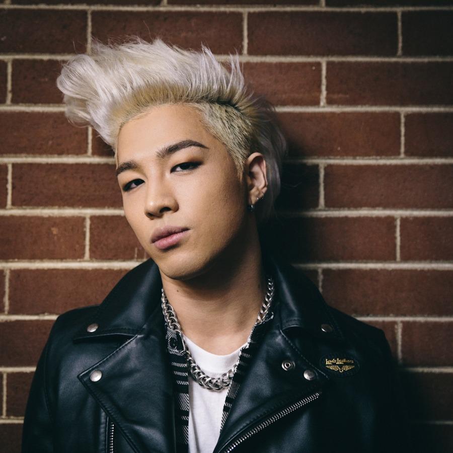 Taeyang with blonde hair