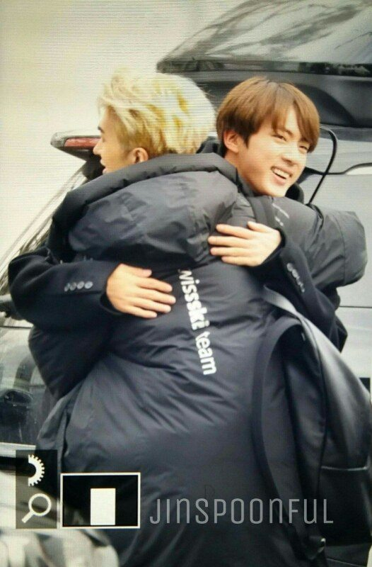 Ken and Jin hugging