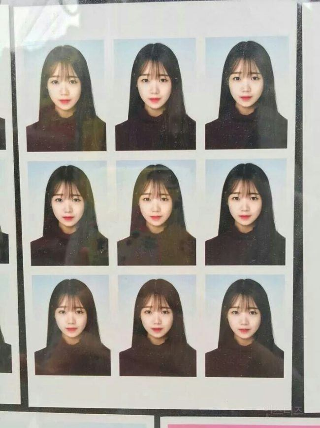 IOI Choi Yoojung's school ID photo