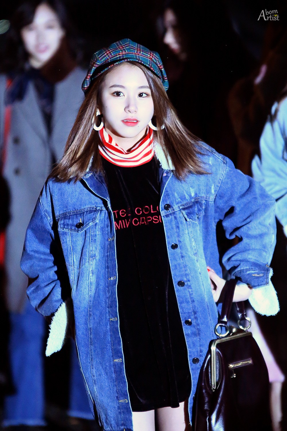 Chaeyoung on the way to Music Bank