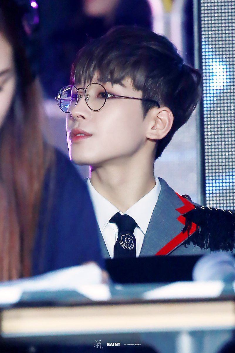 Wonwoo's glasses are clearly for his nearsightedness.