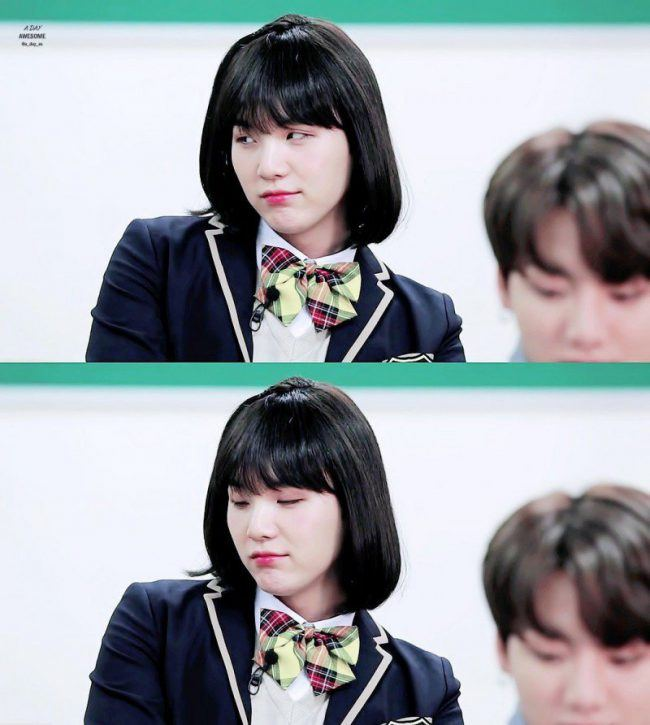 Bts Suga Transforms Into A Gorgeous High School Girl