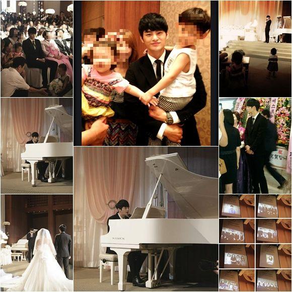Seo In Guk di pernikahan adik perempuannya.