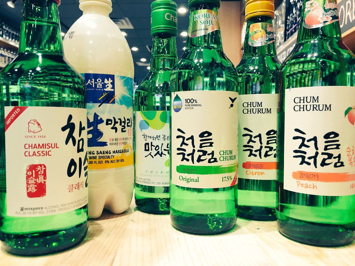 soju and makgeolli