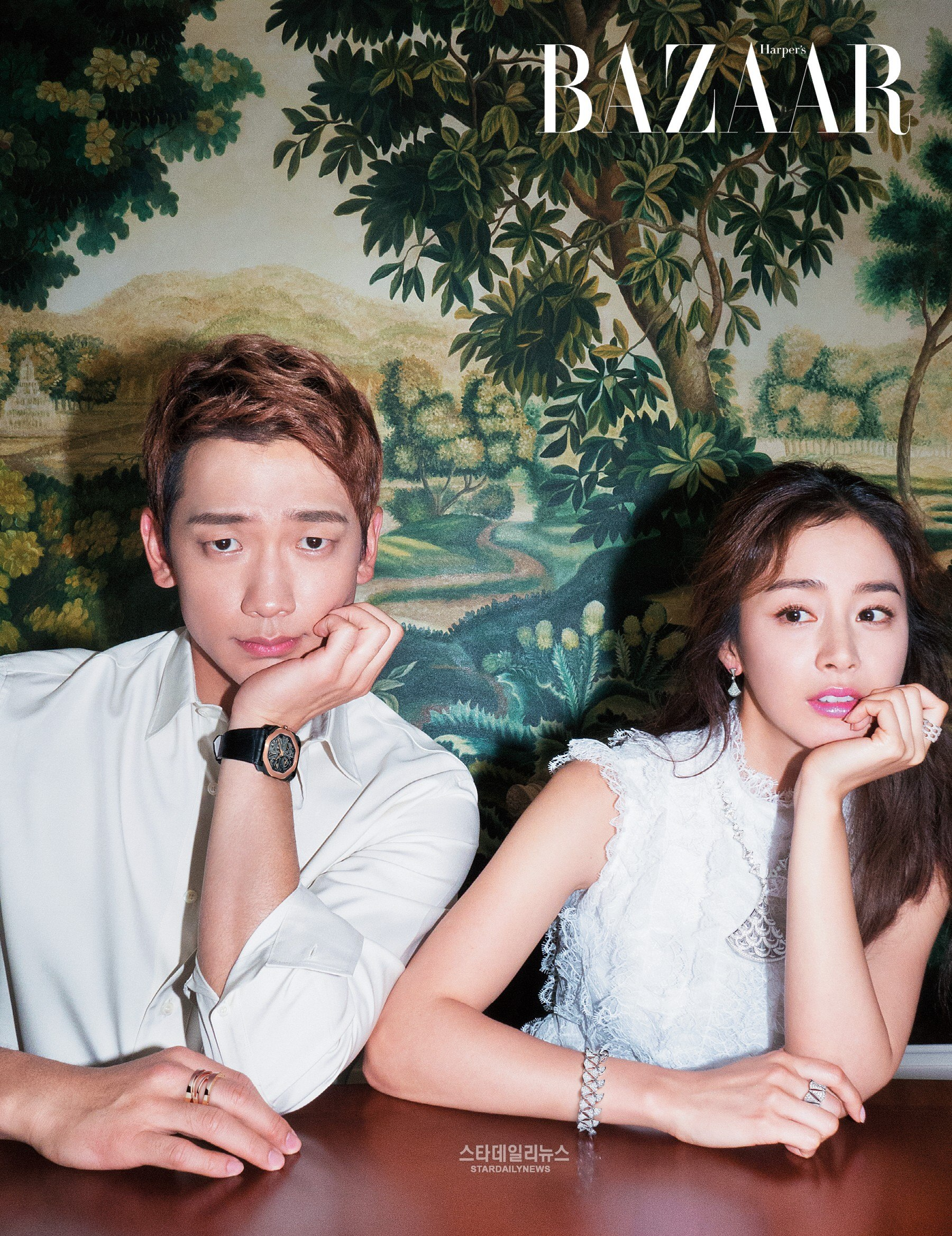 Rain and Kim Tae Hee Release First Ever Photoshoot As a