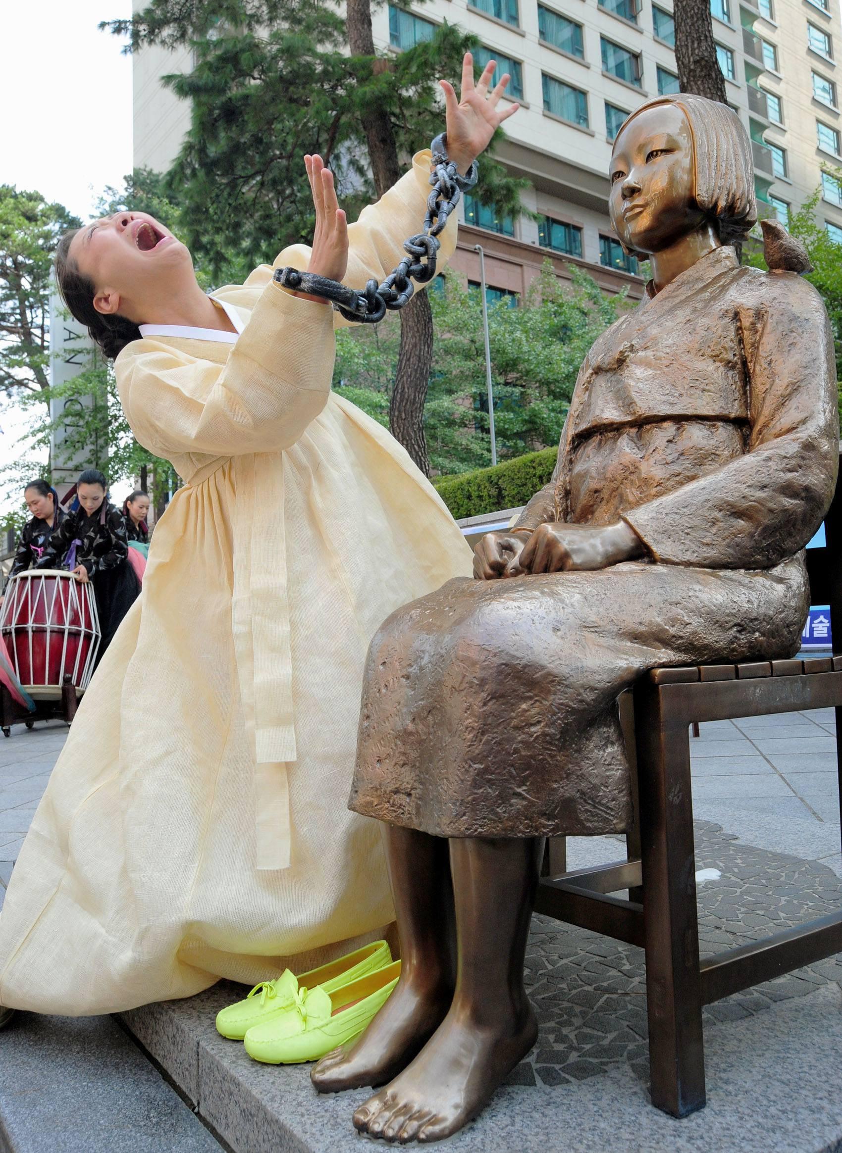 Comfort Women Statue Protest
