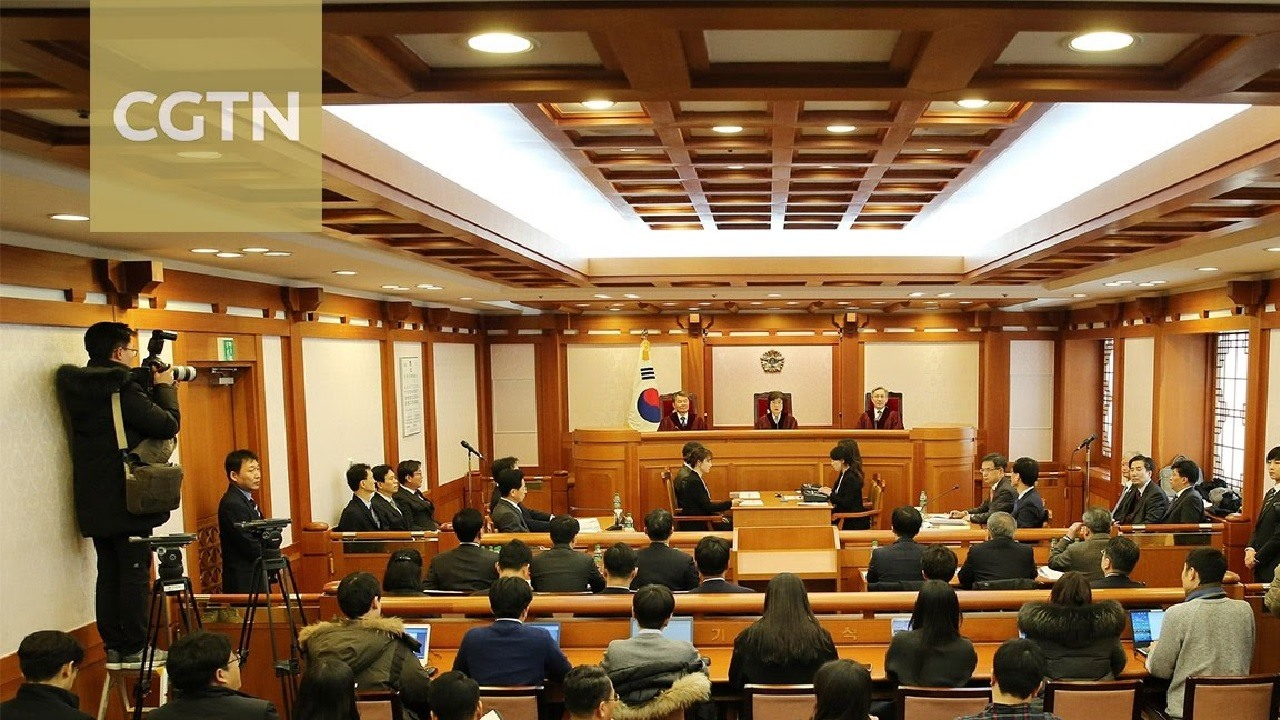 south koreas constitutional court On friday morning, south korea's constitutional court upheld former president park geun-hye's impeachment in a unanimous 8-0 decision with the court's ruling, park becomes the first south korean president to be impeached from office.