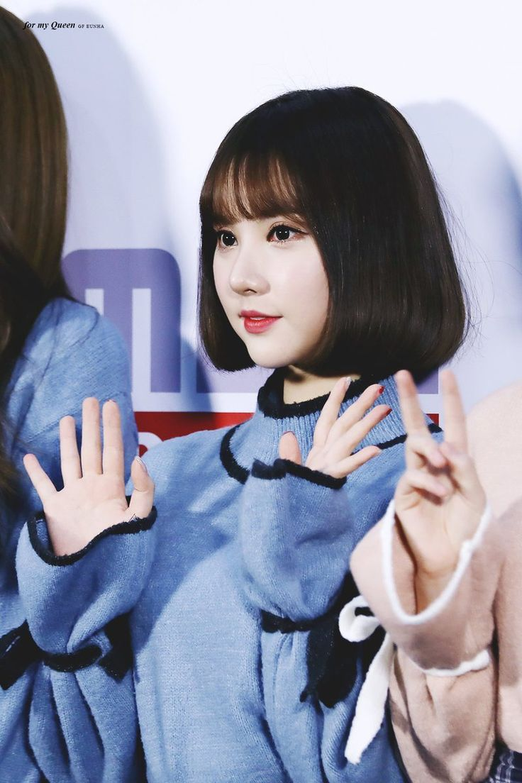 Eunha's middle-parted bob with bangs make her eyes look bigger and more  innocent!