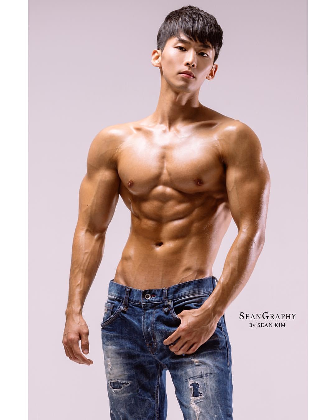 Horny naked asian men