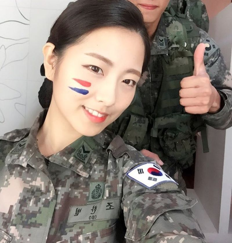 Female Soldier Becomes Korea S Military Mascot Thanks To