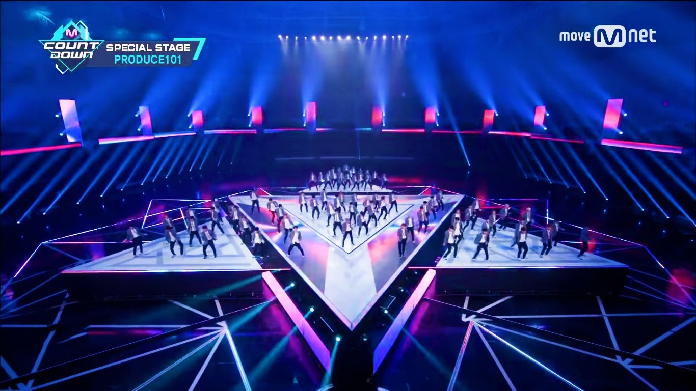 Produce 101 A Team Performed Special Stage On M COUNTDOWN
