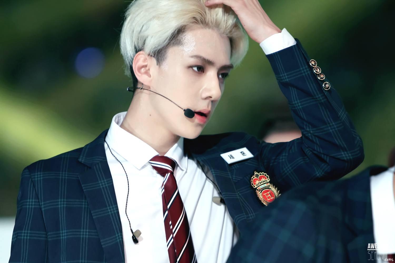 Silver hair male model
