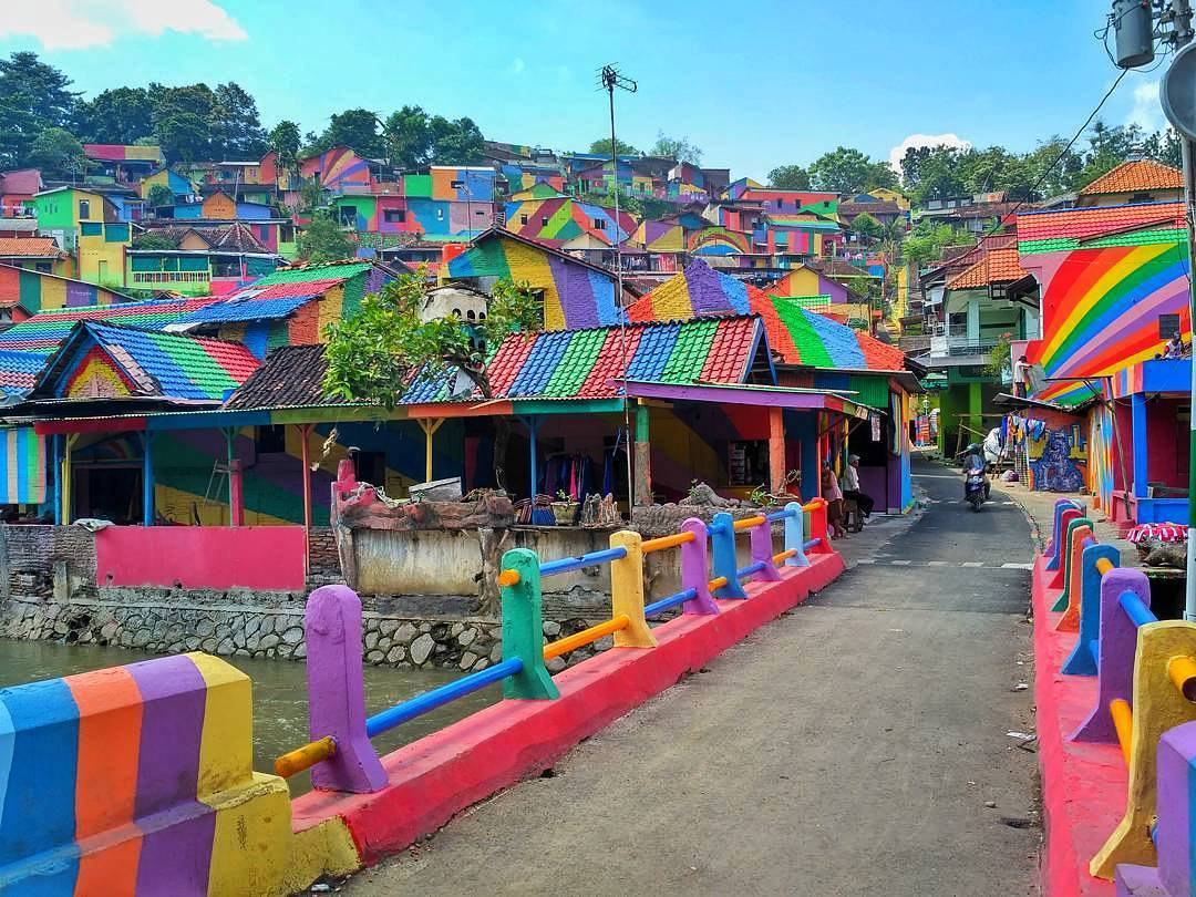 This Vibrant Indonesian Village Is Every Color Lovers Dream Destination