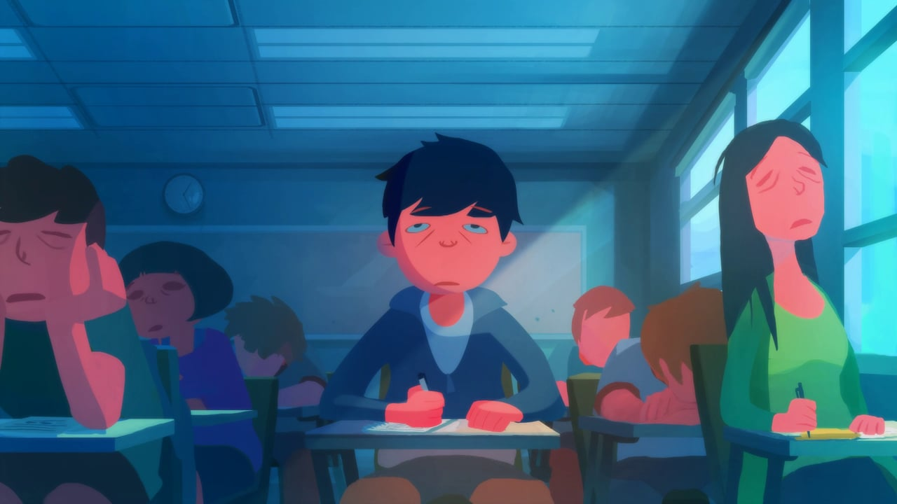 Korean Animator Totally Nails The Struggle of Trying To Stay Awake In Class