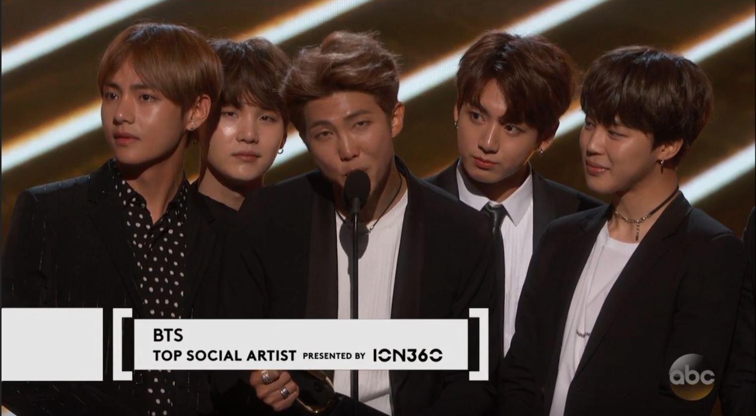 Bts Won The Top Social Media Artist Award At The  Billboard Music Awards Breaking Justin Biebers  Year Streak For The Award