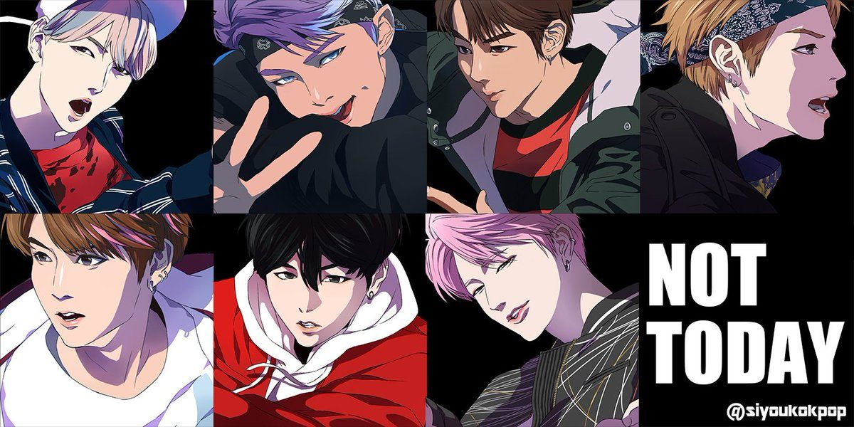 Artist Transforms BTS Into Incredible Anime-Style Characters