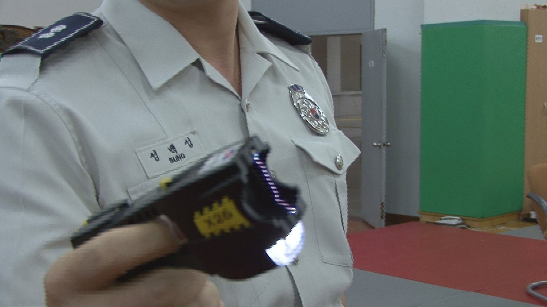 Korean High School Kid Gets Tasered After Trying To Fight A Cop