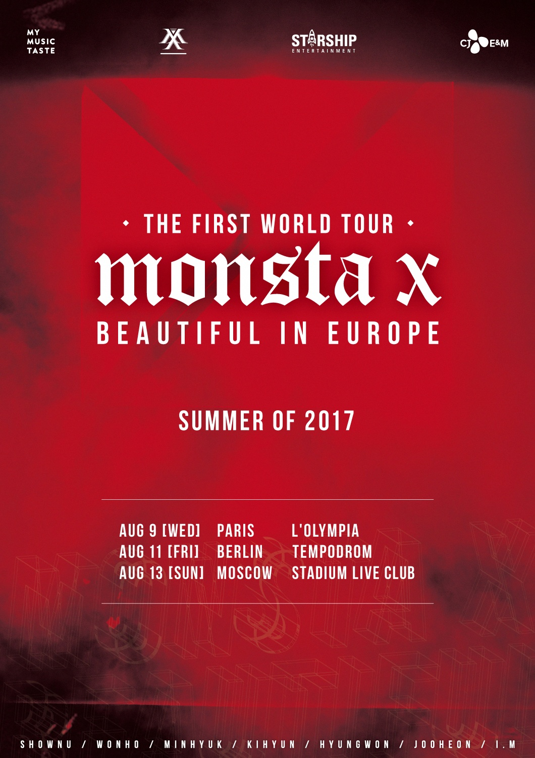 Monsta X Is Heading To Europe As A Part Of Their First World Tour