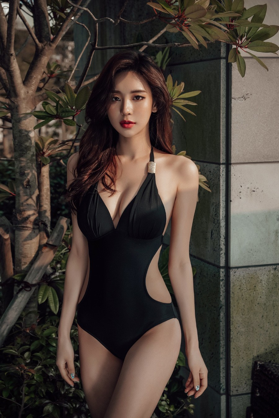 Korean swimsuit model
