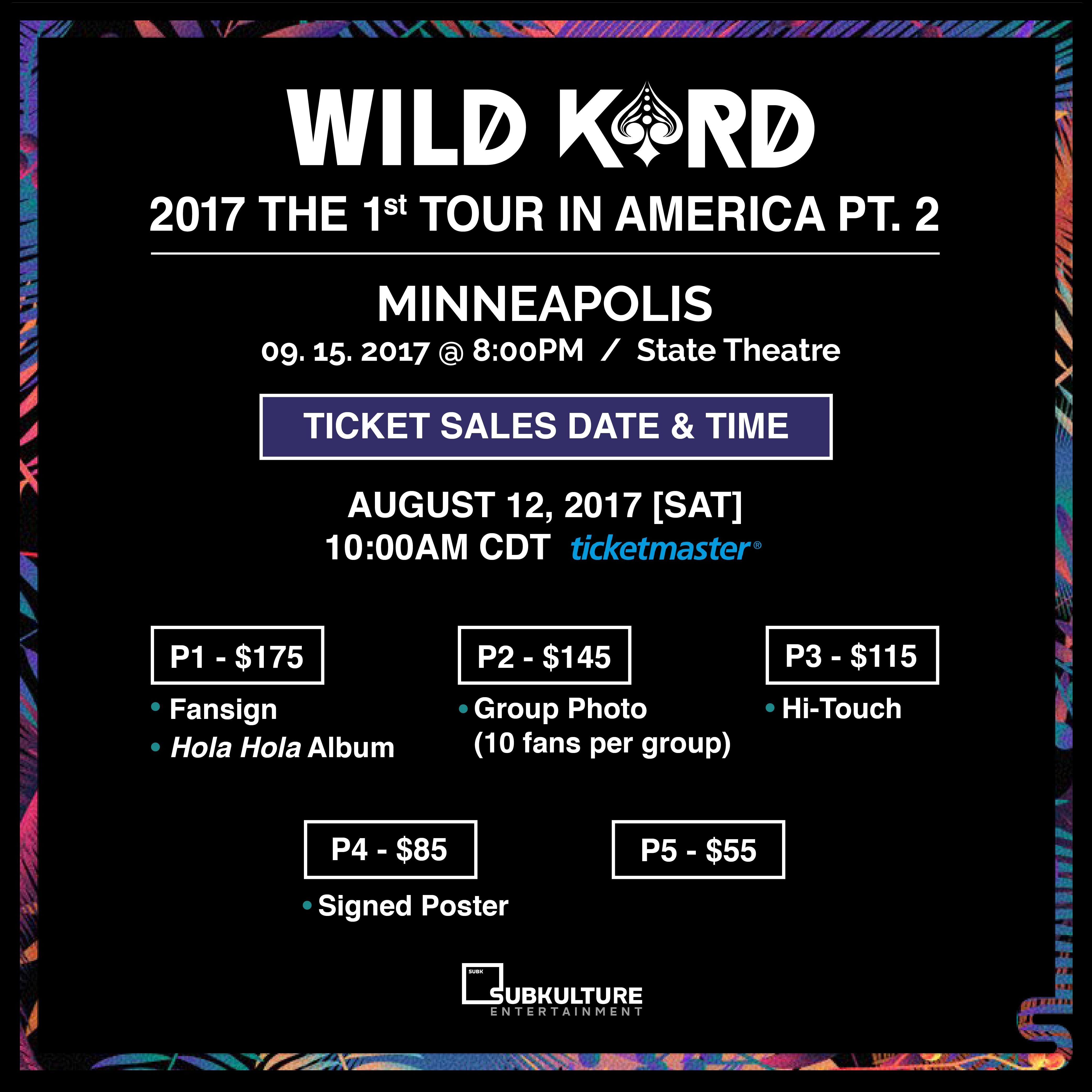 Wild Kard Tour San Francisco Tickets