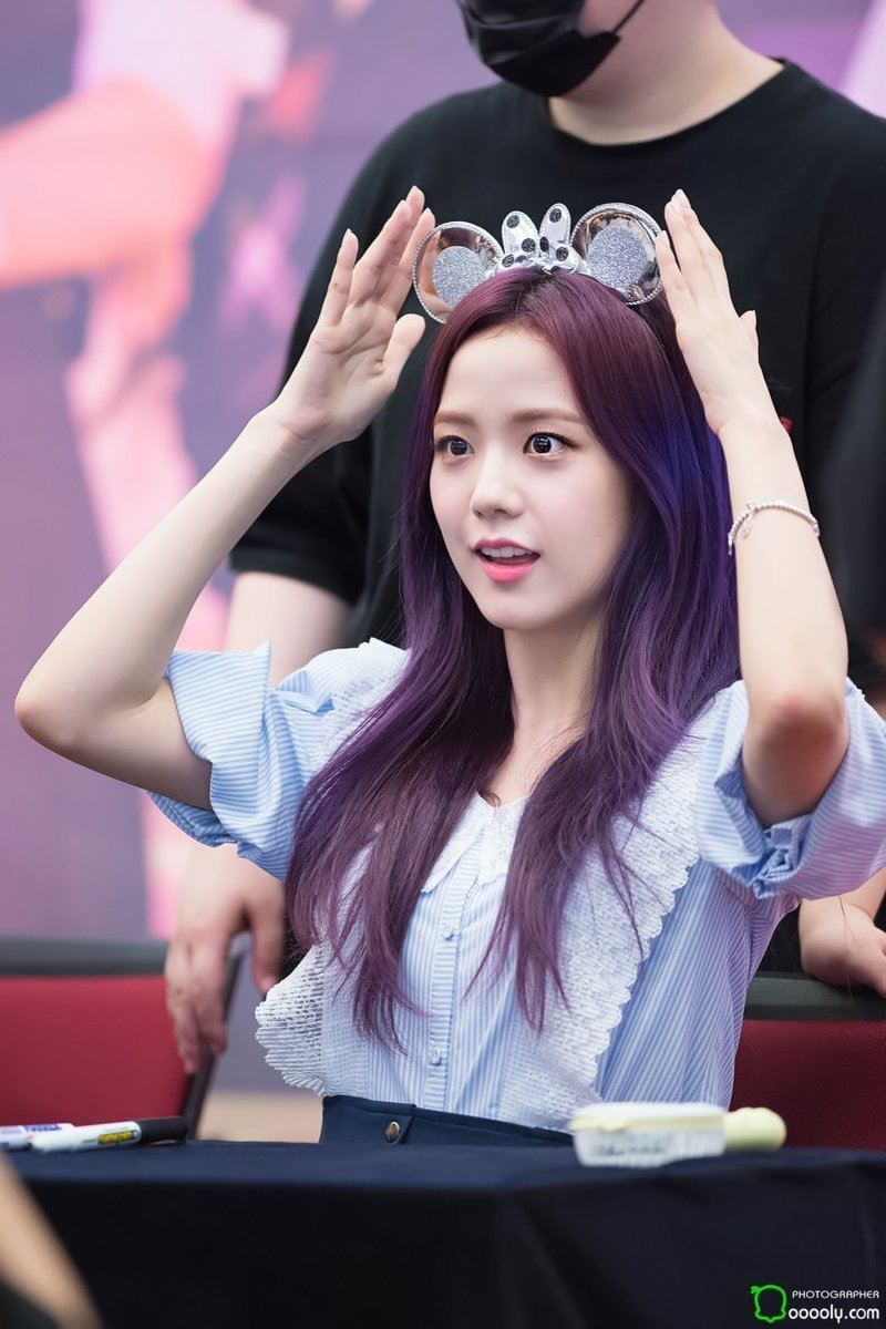 7 Photos Of Blackpink Jisoos Enchanting Purple Hair Will Put You Under Her Spell -5463