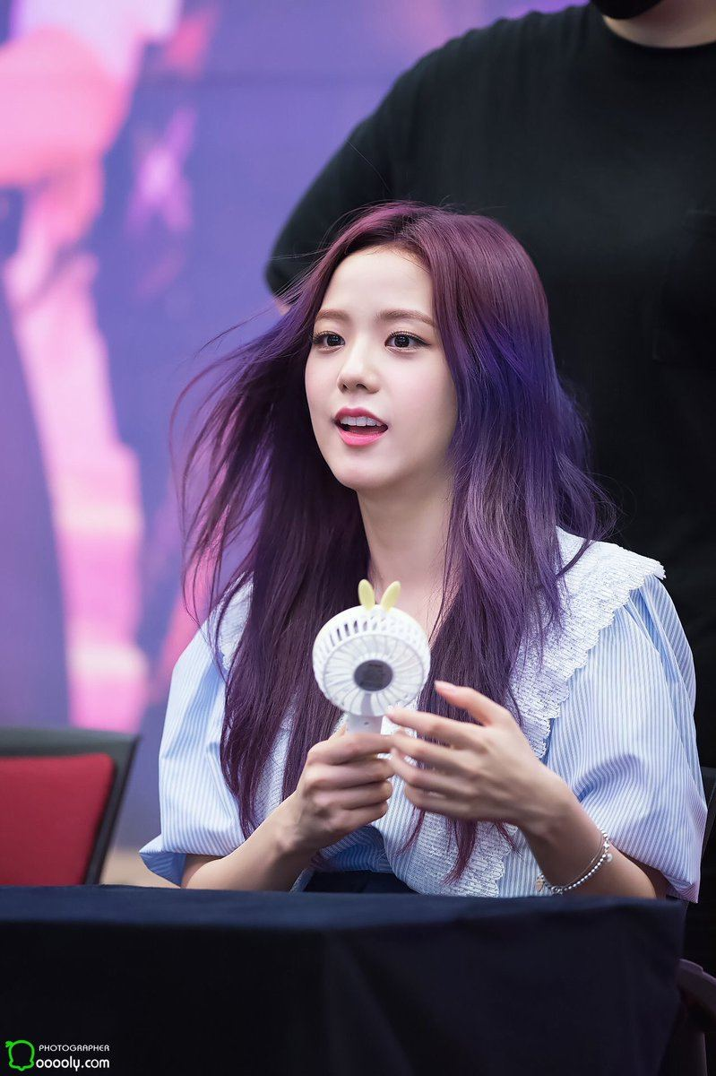 7 Photos Of Blackpink Jisoos Enchanting Purple Hair Will Put You